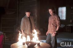 """There Will Be Blood"" -- Pictured (L-R): Jensen Ackles as Dean and Jared Padalecki as Sam  in SUPERNATURAL on The CW. Photo: Jeff Weddell/The CW ©2012 The CW Network. All Rights Reserved."