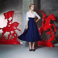 Ulyana Sergeenko skirt and blouse from demi-couture collection, limited edition.