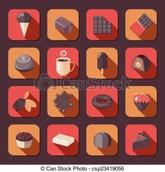 flat design chocolate - Google Search