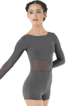 Biketard with Mesh Insets | Balera™ https://www.designsfordance.com/leotards/mt9606.aspx?position=1