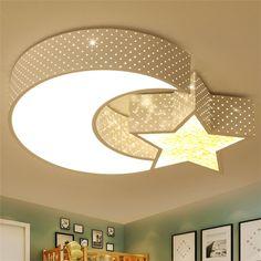LEDシーリングライト 照明器具 リビング照明 天井照明 店舗照明 おしゃれ照明 星&月 黒白 LED対応