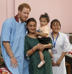 Kanti Children's Hospital in Kathmandu treats children up to the age of 14 and was established in 1963. Harry spent time touring the hospital's facilities and meeting with staff and patients