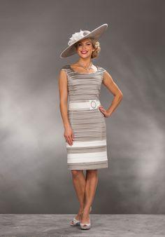 Short navy/cream shift dress & short jacket Product Code: D154