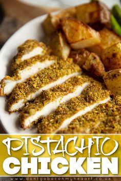 This Pistachio Crusted Chicken is crispy and bursting with flavour. It's served with a super easy honey mustard cream sauce too! | www.dontgobaconmyheart.co.uk Spicy Recipes, Indian Food Recipes, Vegetarian Recipes, Chicken Recipes, Cooking Recipes, Healthy Recipes, Healthy Food, Quick Dinner Recipes, Quick Easy Meals