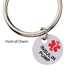 Insulin Pump with Blue Circle Key Ring Partial Proceeds Benefit Diabetes Alert Dog Alliance