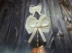 Bridal Satin Bow Tie Bobby Pins Bow Tie Hair Pins Set of 2