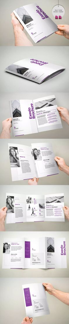 3xA4 Trifold Brochure Template InDesign INDD - A4