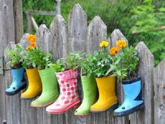 Fun way to use all those outgrown boots!