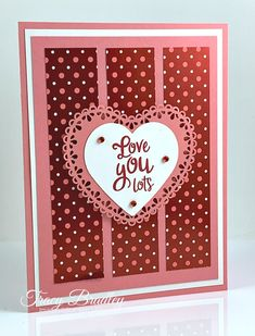 From My Heart Designer Series Paper - Stamping Wit - St Valentin Fleurs Valentines Day Cards Handmade, Valentine Ideas, Valentine's Cards For Kids, Stamping Up Cards, Card Sketches, Creative Cards, Anniversary Cards, Homemade Cards, Making Ideas