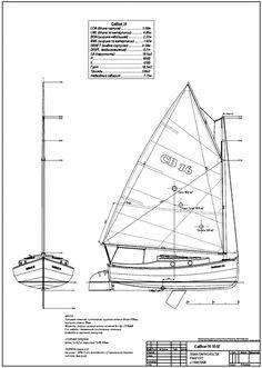 sailplan план парусности яхты кэтбот
