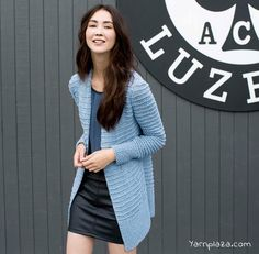 Knitting a Cardigan? This fashionable Amira Cardigan is made with the beautiful Lang Yarns Amira. A true must have! Get the free pattern here!