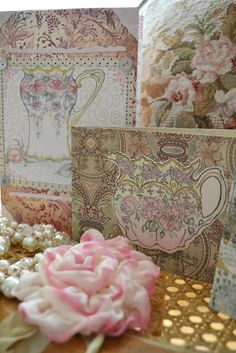 vintage style tea time cards