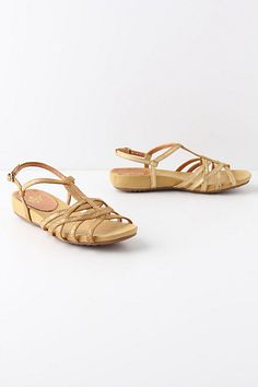 twined shimmer t-straps from anthropologie