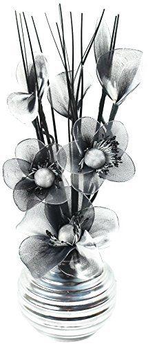 Flourish 32 cm 813 Chrome Vase with Black/ White Mini Nylon Flower, Black, http://www.amazon.co.uk/dp/B00N5VK8BC/ref=cm_sw_r_pi_awdl_dCUQvbWZKW15D