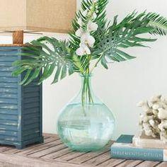 Beachcrest Home Bubble Vase , Floor Vase Decor, Vases Decor, Centerpieces, Small Flower Arrangements, Flower Vases, Clear Glass Vases, Glass Bottles, Wine Bottles, Cut Glass