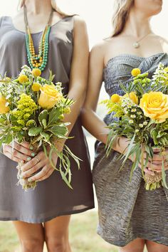 Southern weddings, Southern wedding ideas, gray and yellow wedding
