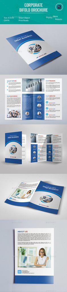 Corporate Bifold Brochure Template #brochure #design Download: http://graphicriver.net/item/corporate-bifold-brochure/12577157?ref=ksioks