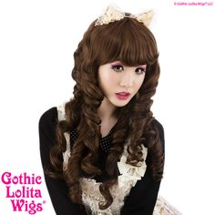 Gothic Lolita Wigs Store Spiraluxe™ Collection - Chocoholic – Dolluxe® #brown #gothiclolitawigs #GLW #IAMDOLLUXE #wig #longhair #curlyhair #cute #kawaii