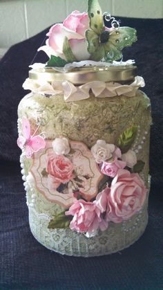 Altered Glass Jar - Scrapbook.com