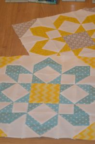 "Fun ""Fireworks"" blocks by Gemma Young of Hexagon Stitches. Pattern by Camille Roskelley available here: http://thimbleblossoms.bigcartel.com/product/fireworks-pattern-155-pdf-pattern"
