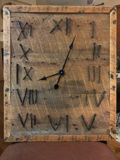 Handmade reclaimed barn wood clock.  Check out our online retail - free shipping - www.storybarns.com - sales tab. Wood Clocks, Reclaimed Barn Wood, Retail, Free Shipping, Check, Wall, Handmade, Home Decor, Homemade Home Decor