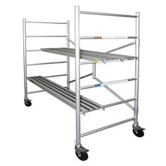 "6' H x 56.5"" W x 29"" D Aluminum Round Portable Scaffold with 700 lb Load Capacity"