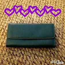 Green Trifold Genuine Leather Women's Wallet