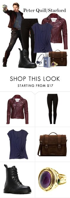 """""""Peter Quill/Starlord"""" by blue-kiwi ❤ liked on Polyvore featuring VIPARO, Dorothy Perkins, Gap, Dr. Martens and SeidenGang"""