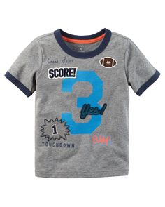 Kid Boy Patch Ringer Tee from Carters.com. Shop clothing & accessories from a trusted name in kids, toddlers, and baby clothes.