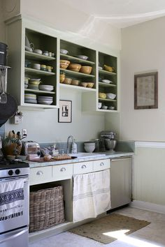 love this european style kitchen - a little farmhouse and country