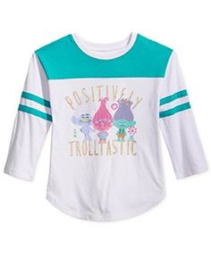 420952e8 Girls' 7-16 Trolls Graphic Jersey T-Shirt by DreamWorks Casual Coats For