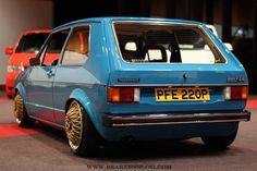 blue vw golf modified rims