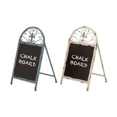 DecMode 17 in. Blackboard - Set of 2 - This set of two rustic chalkboards are a charming accent for any office or living space. The items in the DecMode 17 in. Blackboard - Set of 2 feature. Chalkboard Stand, Chalkboard Easel, Magnetic Chalkboard, Home Organization Wall, Mail Storage, Burlap Wall, Contemporary Frames, Antique Frames, Decorative Signs