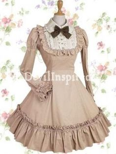 Vintage Bow and Ruffle Classic Lolita Dress