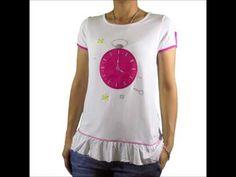 Camiseta volante reloj blanco