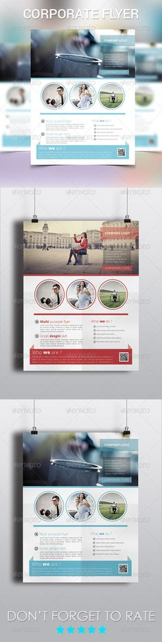 Corporate Flyer Template #GraphicRiver Corporate Flyer Template for Business Specifications: 2 layered PSD, Letter 8.5×11 in, 300 dpi, CMYK , 0.25in bleeds, Metro Style , Flat Design, Colorful Design, Fully editable Photoshop CS .psd file, Photos and font are NOT included. Files Includes • 2 Photoshop Psd File (colors can be changed) Back & Front • 1 Help File Font Used • Roboto For any kind of help regarding this file, please contact me through my profile page and I'll be glad to offer…