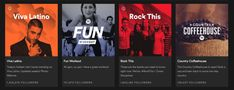 Spotify website gradients