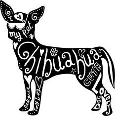 Pet Chihuahua Dog vector art illustration