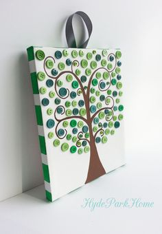 Button Tree Canvas 8x10 by HydeParkHome on Etsy