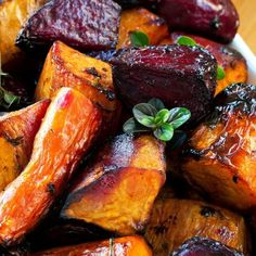 Roasted Balsamic Root Vegetables - The Spice & Tea Shoppe Roasted Fall Vegetables, Roasted Vegetable Recipes, Root Veggies, Beet Recipes, Veggie Recipes, Oven Roasted Beets, Rutabaga Recipes, Grilled Vegetables, Potato Recipes
