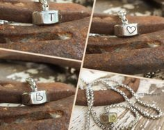 Stainless steel nut necklace - hand stamped jewelry - Edit Listing - Etsy