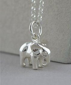 Loving this Sterling Silver Elephant Pendant Necklace on #zulily! #zulilyfinds