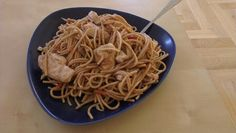 Chinese chicken with spaghetti