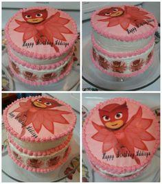 PJ Masks Owlette Birthday Cake. Edible Prints on Cake (EPoC) Toppers.