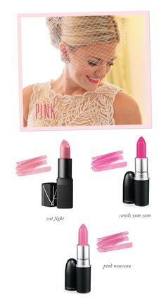 Wedding makeup tips: Lipstick picks from Fiore Beauty bridal 100 makeup hacks - Makeup Hacks Pink Lipsticks, Lipstick Shades, Lipstick Colors, Lip Colors, Wedding Makeup Tips, Wedding Beauty, Wedding Hacks, Wedding Ideas, Bridal Makeup