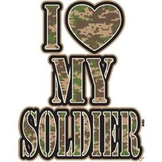 I HEART My Soldier Camo by Mychristianshirts on Etsy