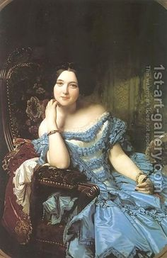 Federico de Madrazo y Kuntz:Amalia de Llano y Dotres- The Countess of Vilches  1853