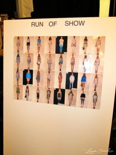 "The ""Run of Show"" lineup backstage at Rebecca Minkoff Spring 2013 #nyfw #runway"