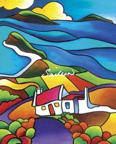 Ti for Two Fine Art Print - Saileen Drumm - Visual Artist Round Canvas, Large Canvas, Farm Quilt, African Art Paintings, Jr Art, Happy Art, Color Of Life, Art Club, Landscape Art