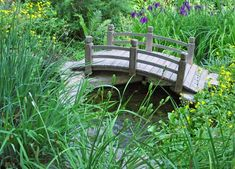 If you have a pond or a creek in your yard you might need a well-built garden bridge. Browse throughout these neat Garden Bridge Designs